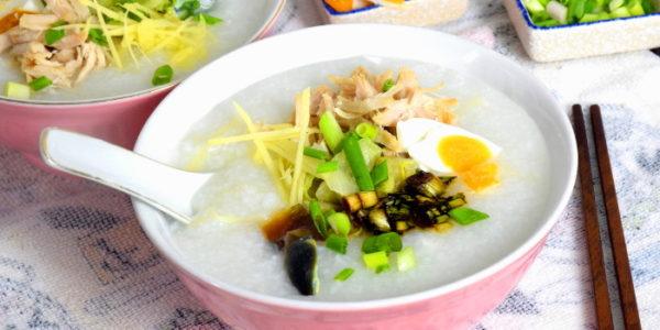 pork and century egg Chinese porridge recipe