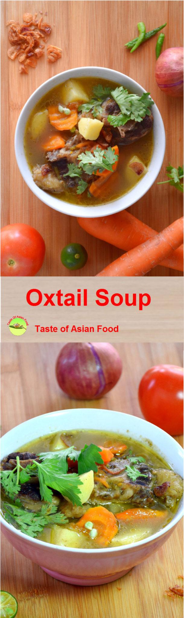 Malaysian oxtail soup recipe pin