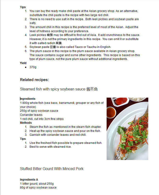 Chinese recipes screenchot