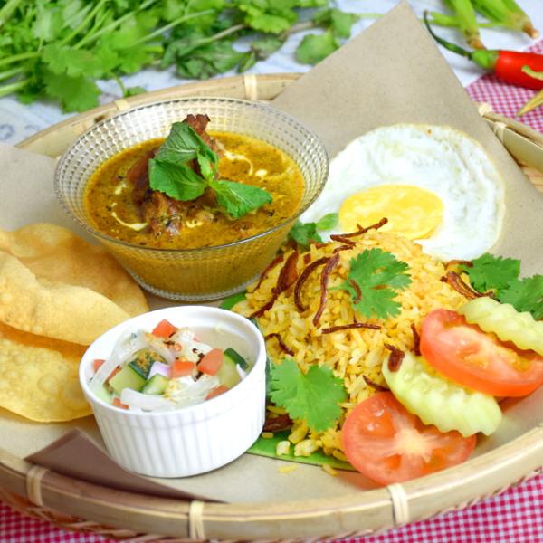 biryani rice with butter chciken