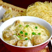 Cantonese style wonton and wonton soup