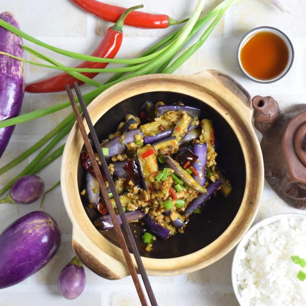 Chinese eggplant stir fry