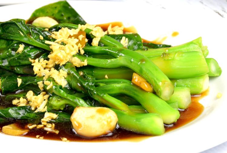 Chinese broccoli close up