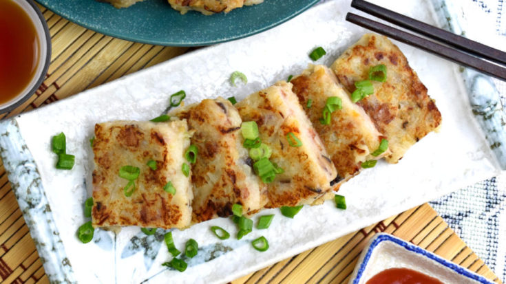 Turnip cake (lo bak gou / 蘿蔔糕) is the famous Chinese dim sum served in restaurant. Find out how to make it as good as dim sum store by following this recipe.