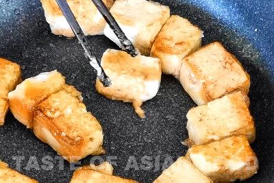 General Tsos tofu - pan-fry tofu