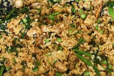 Nasi goreng - kangkung wilted