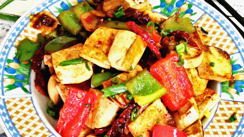 Kung Pao tofu (宫保豆腐)is an improvised dish from the famous Szechuan cuisine Kung Pao chicken. It is an excellent vegetarian dish for those who do not eat meat but want to appreciate the same flavor of the famed Kung Pao chicken.