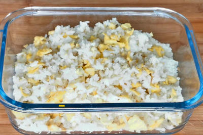 Baked pork chops rice - the fried rice