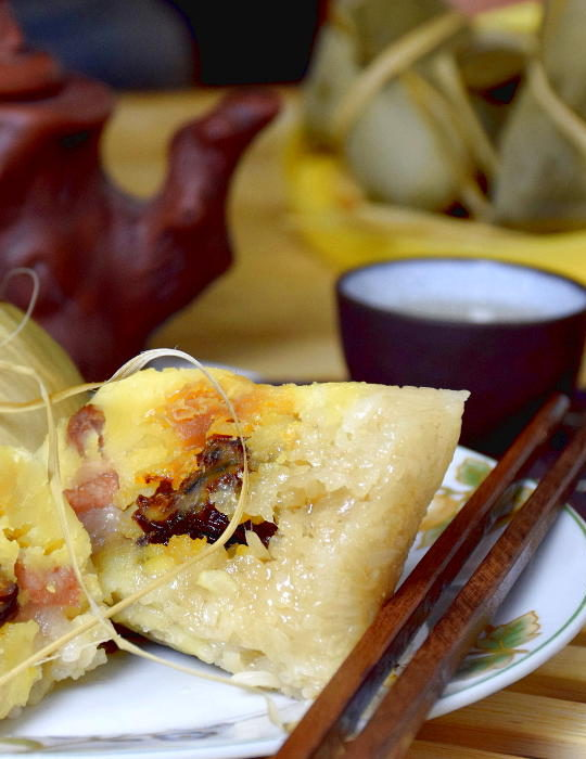 freshly open Coantonese Zongzi. Best Zongzi recipe